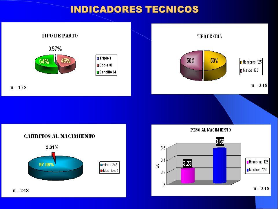 INDICADORES TECNICOS n - 248 n - 175 n - 248 n - 248