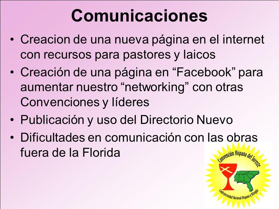 Comunicaciones Creacion de una nueva página en el internet con recursos para pastores y laicos.