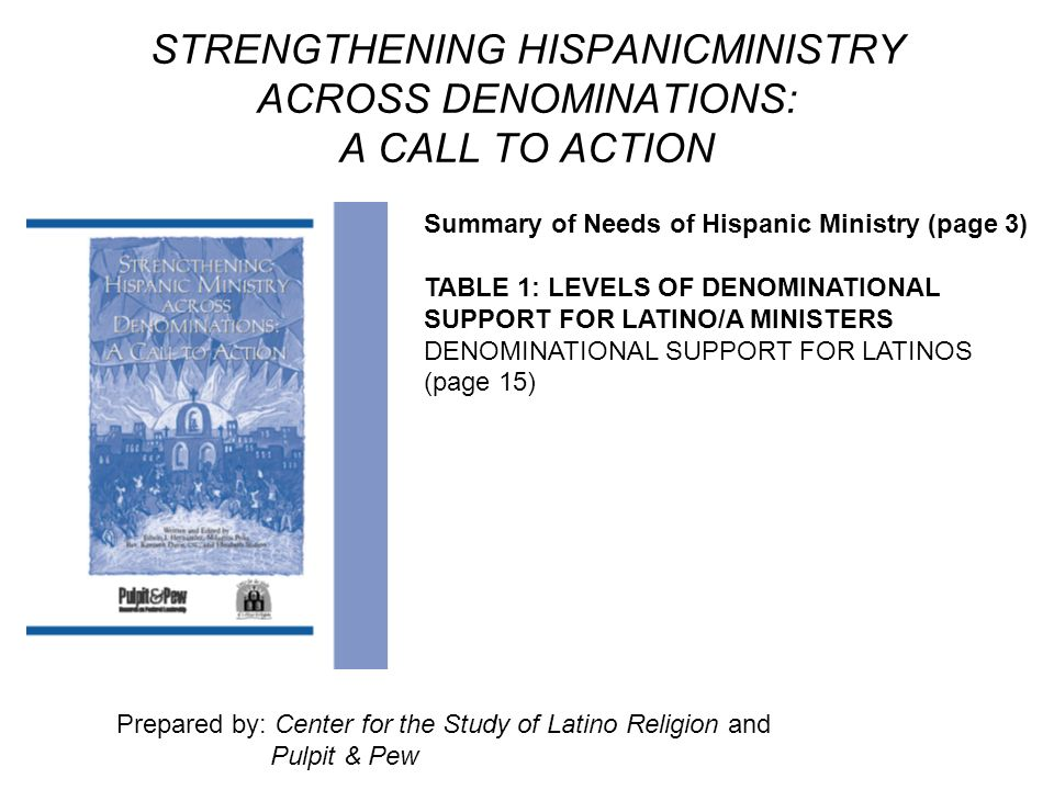 STRENGTHENING HISPANICMINISTRY ACROSS DENOMINATIONS: A CALL TO ACTION