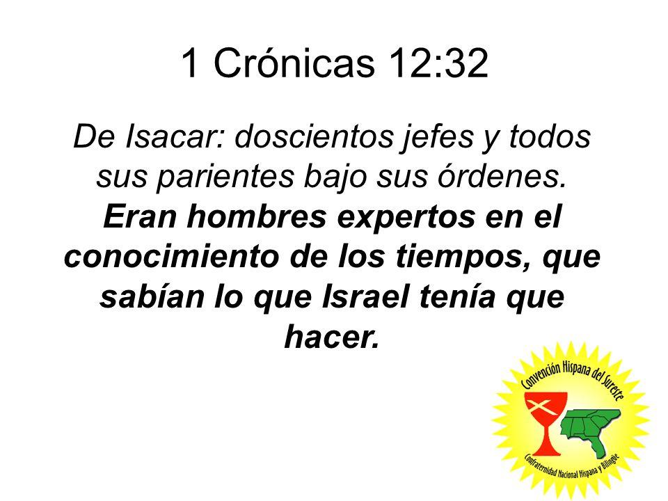 1 Crónicas 12:32