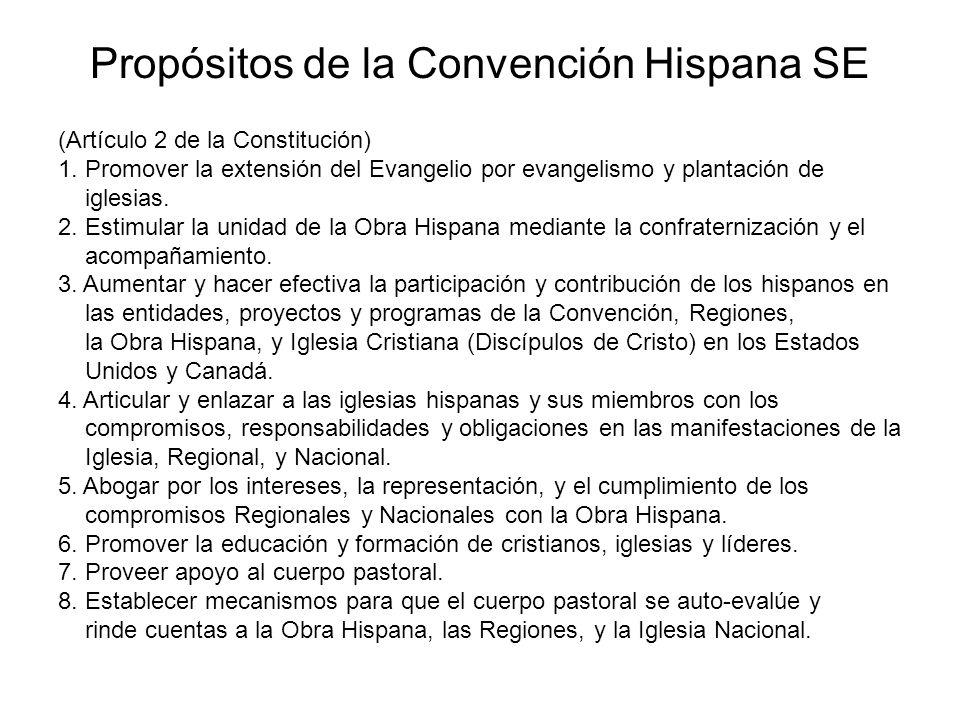 Propósitos de la Convención Hispana SE