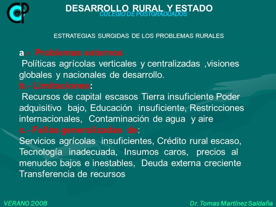 DESARROLLO RURAL Y ESTADO COLEGIO DE POSTGRADUADOS