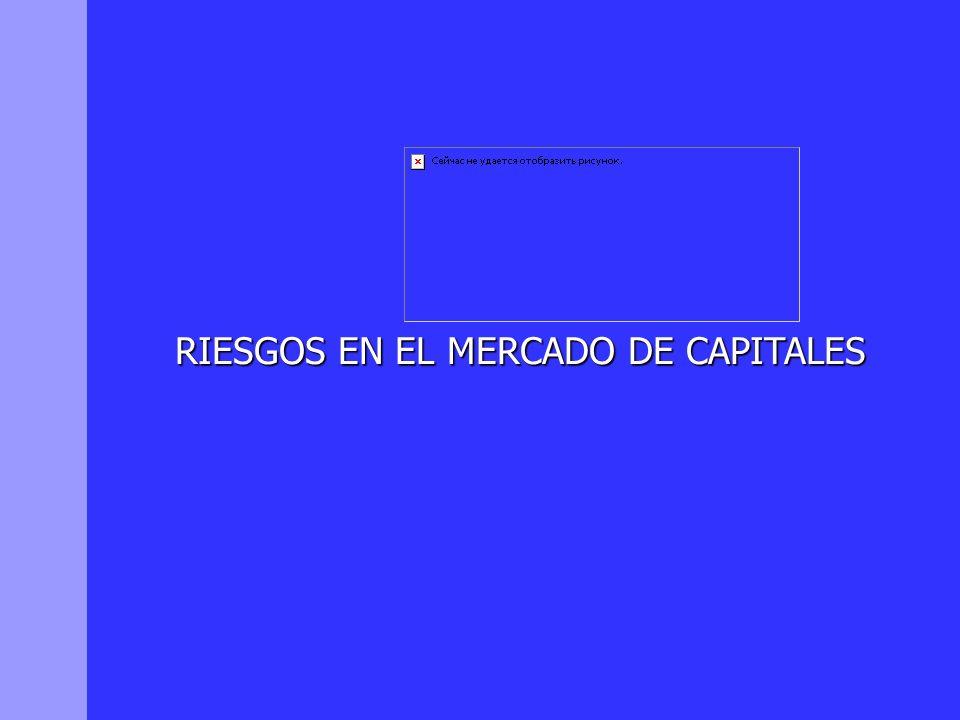RIESGOS EN EL MERCADO DE CAPITALES