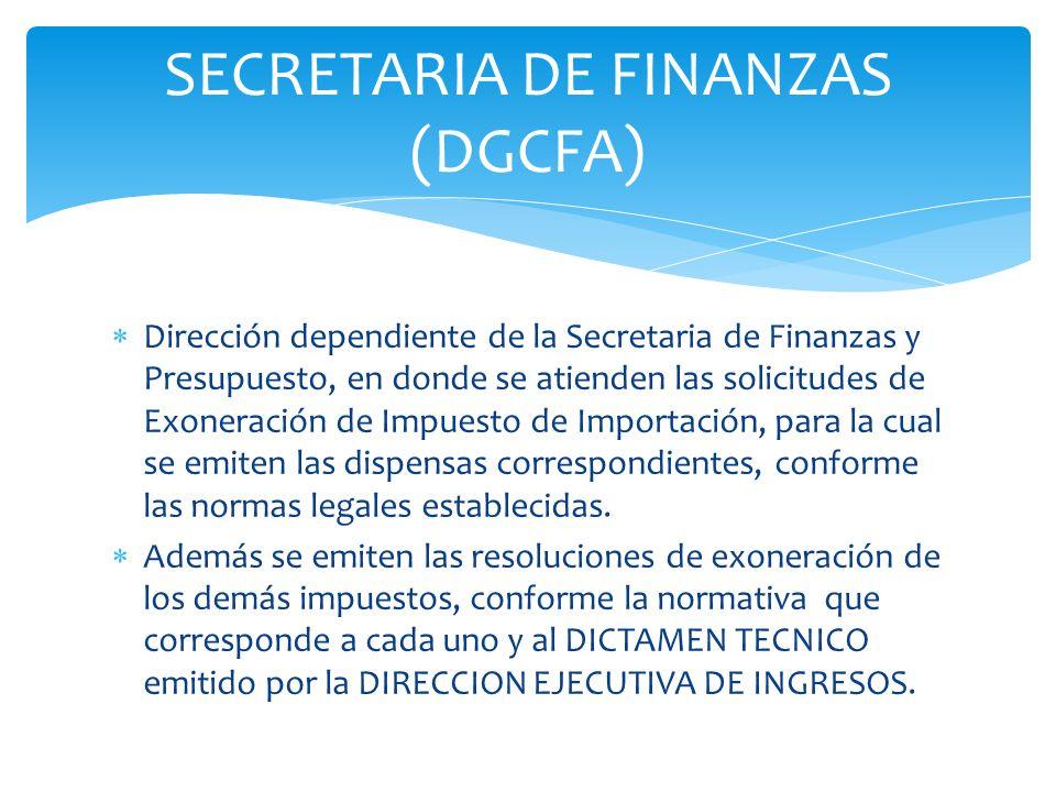 SECRETARIA DE FINANZAS (DGCFA)