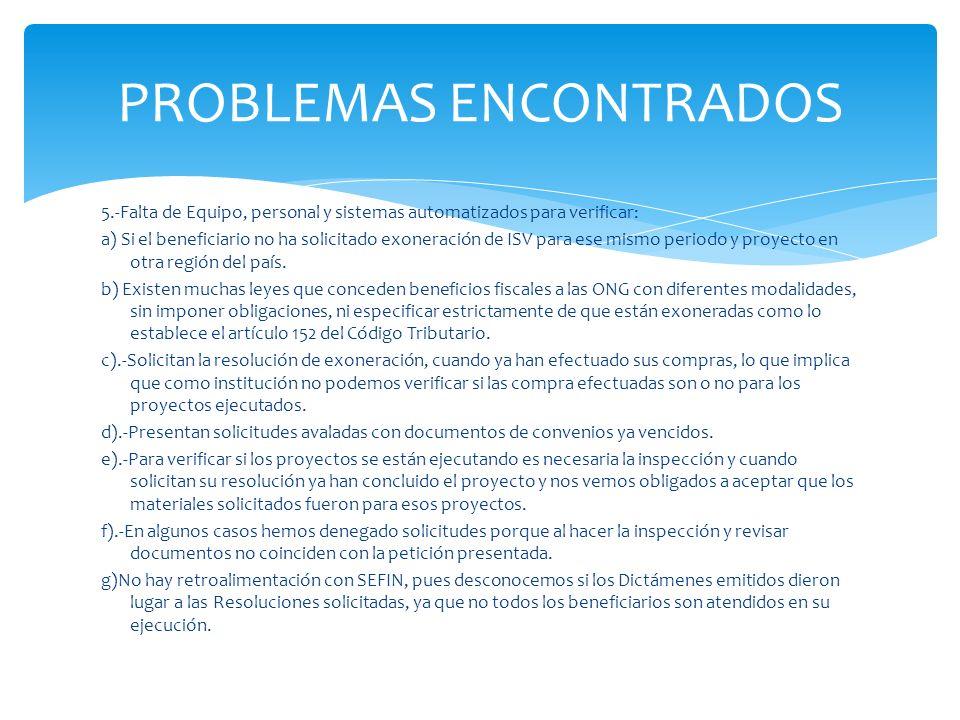 PROBLEMAS ENCONTRADOS