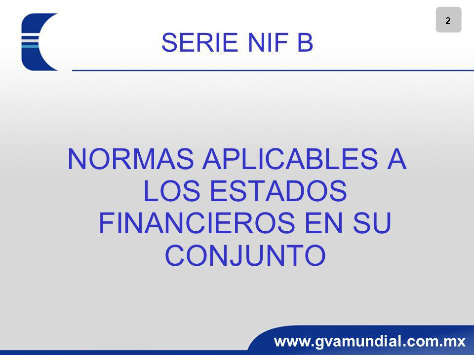 NORMAS APLICABLES A LOS ESTADOS FINANCIEROS EN SU CONJUNTO