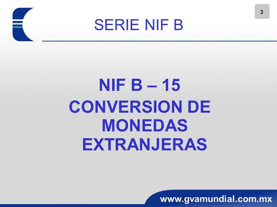 CONVERSION DE MONEDAS EXTRANJERAS