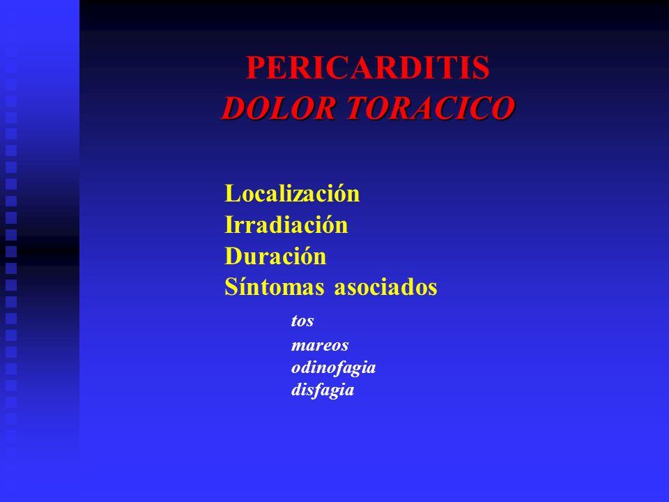PERICARDITIS DOLOR TORACICO