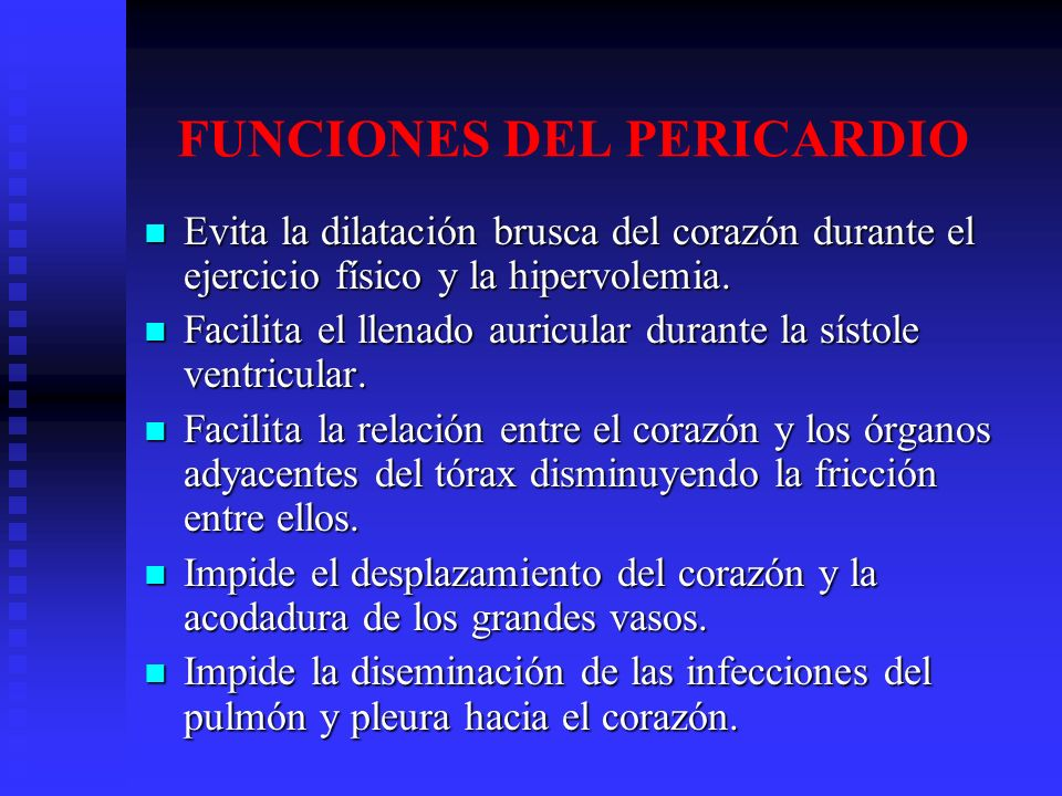 FUNCIONES DEL PERICARDIO