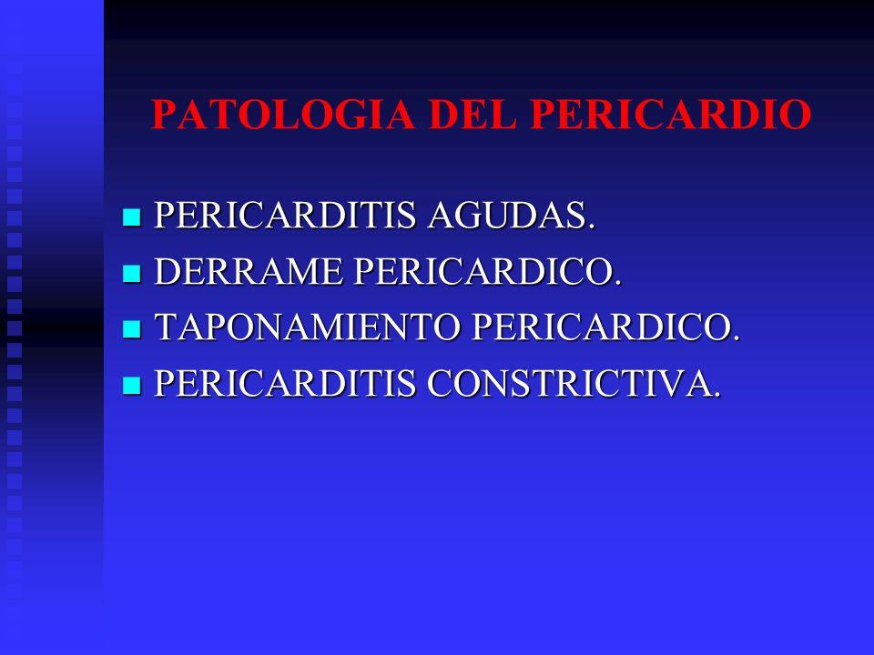 PATOLOGIA DEL PERICARDIO