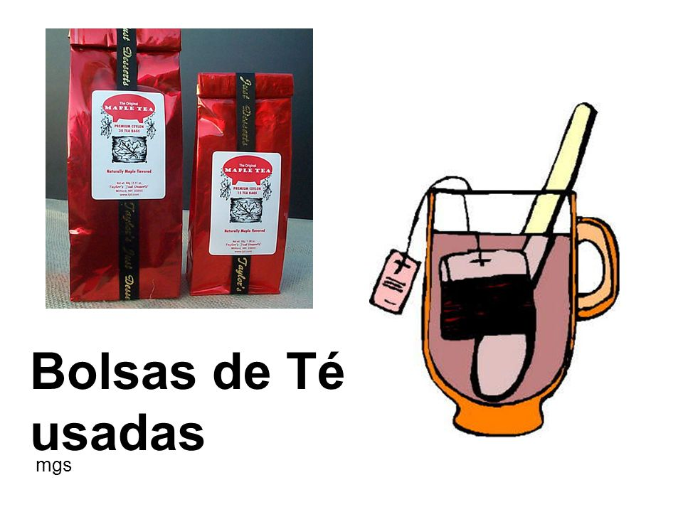 Bolsas de Té usadas mgs