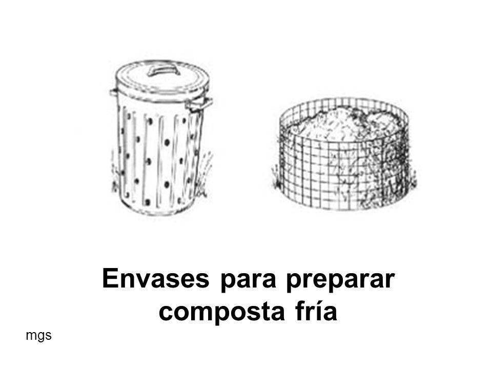 Envases para preparar composta fría