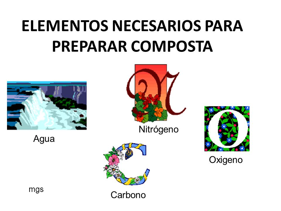 ELEMENTOS NECESARIOS PARA PREPARAR COMPOSTA
