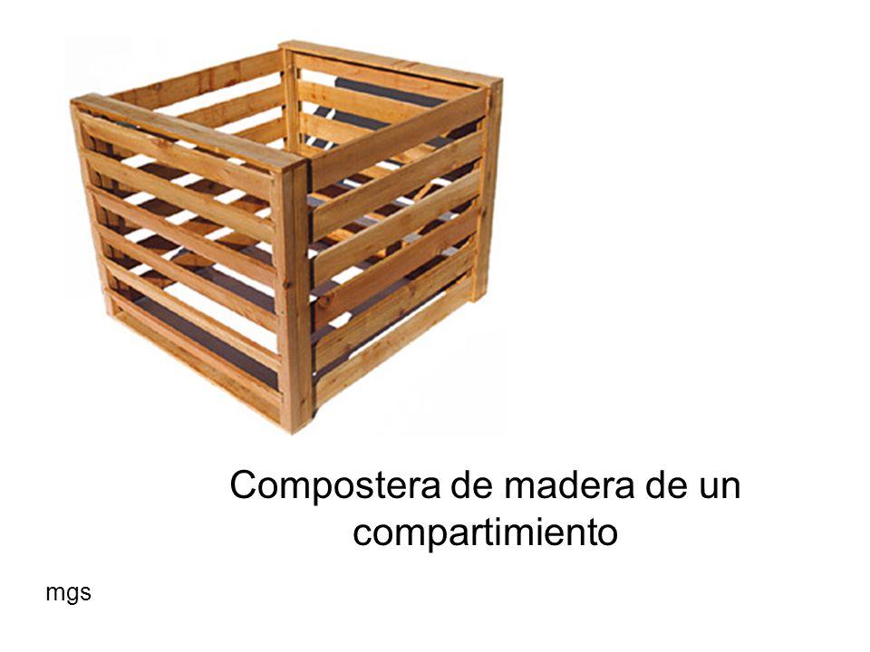 Compostera de madera de un compartimiento
