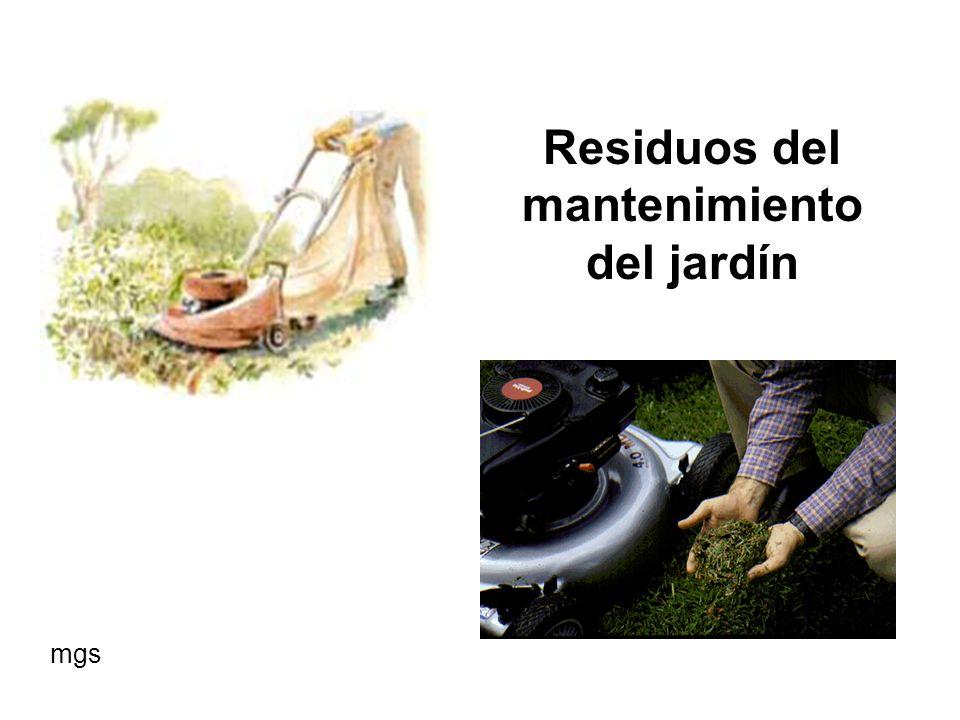 Residuos del mantenimiento del jardín