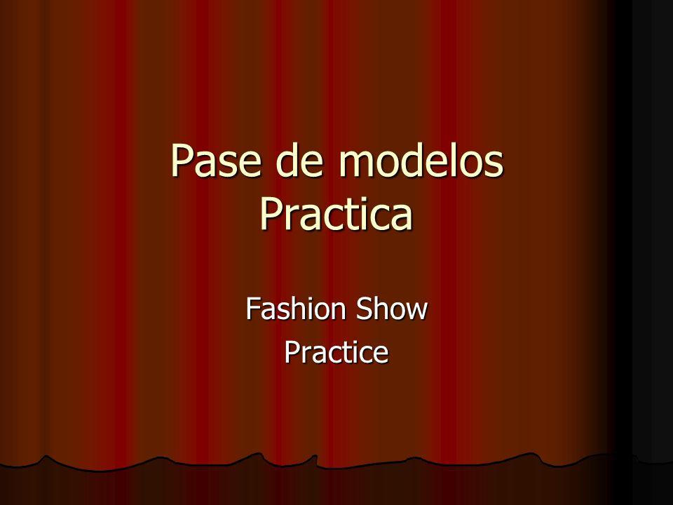Pase de modelos Practica