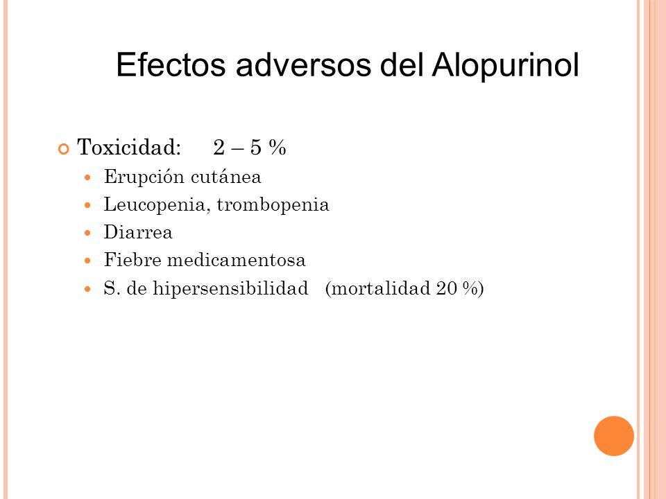 Efectos adversos del Alopurinol