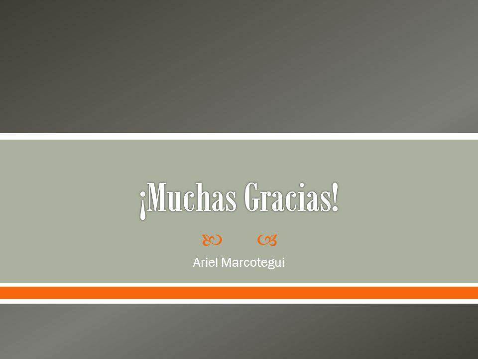 ¡Muchas Gracias! Ariel Marcotegui