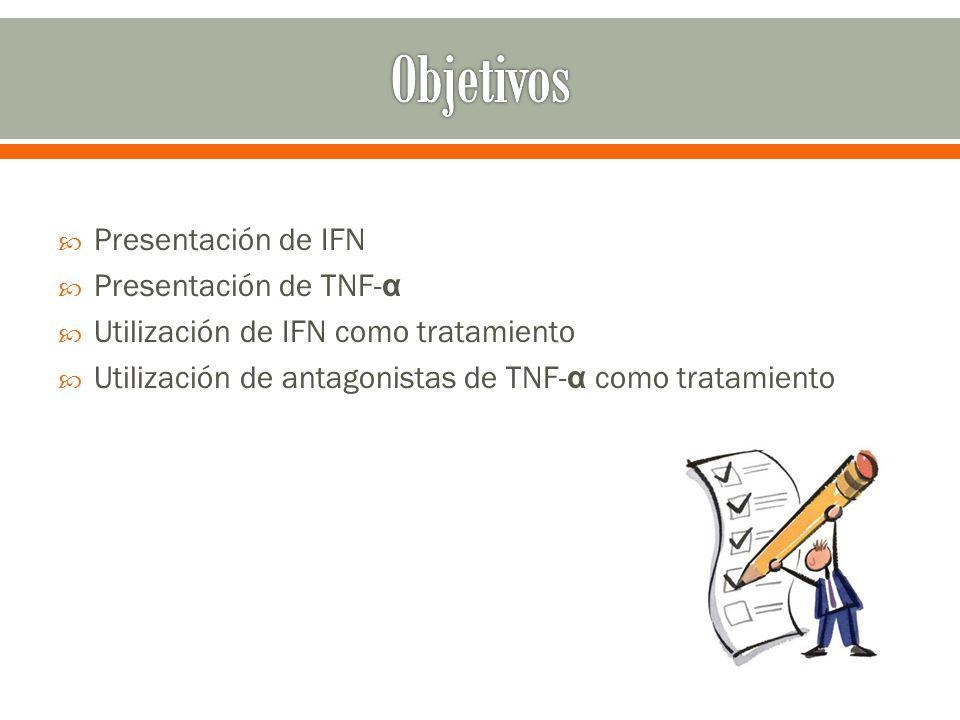 Objetivos Presentación de IFN Presentación de TNF-α