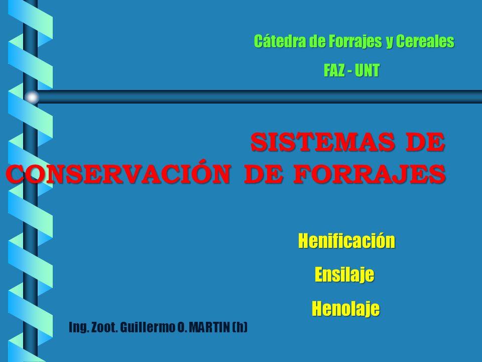 Ensilaje Henolaje Cátedra de Forrajes y Cereales FAZ - UNT