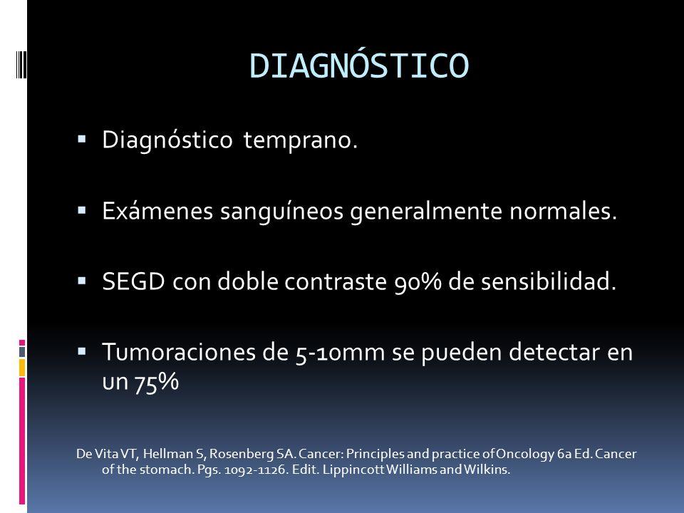 DIAGNÓSTICO Diagnóstico temprano.