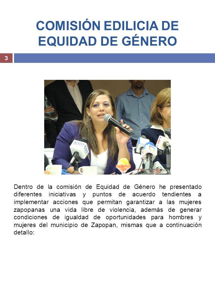 COMISIÓN EDILICIA DE EQUIDAD DE GÉNERO