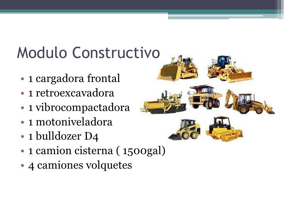 Modulo Constructivo 1 cargadora frontal 1 retroexcavadora