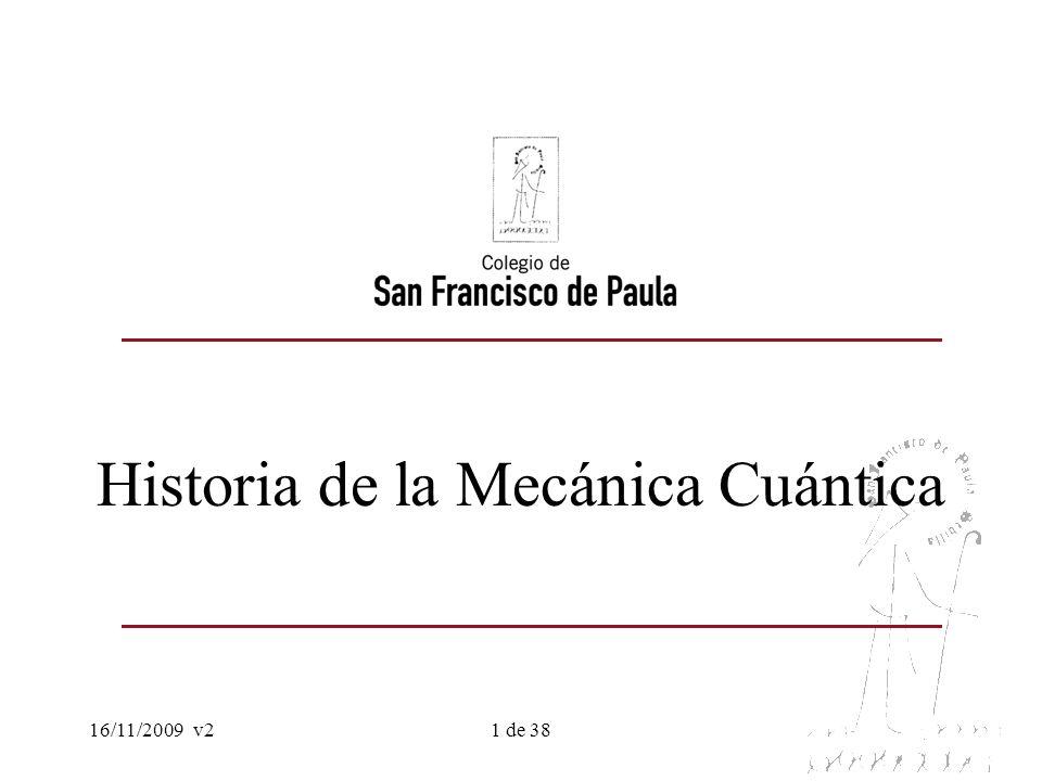 Historia de la Mecánica Cuántica