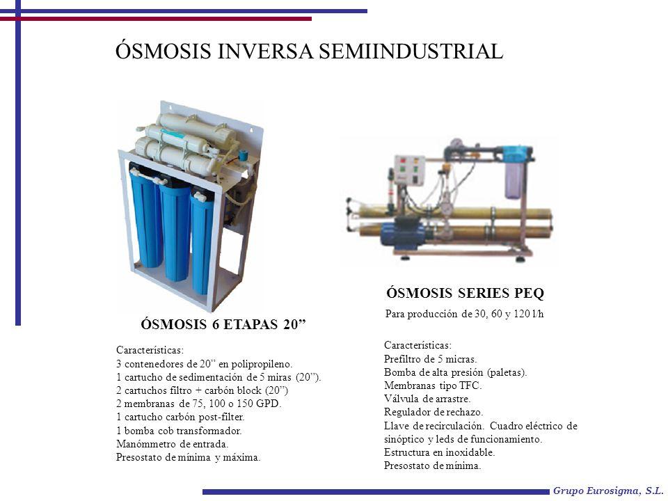 ÓSMOSIS INVERSA SEMIINDUSTRIAL