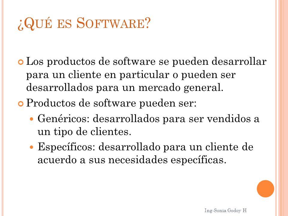 ¿Qué es Software Los productos de software se pueden desarrollar para un cliente en particular o pueden ser desarrollados para un mercado general.