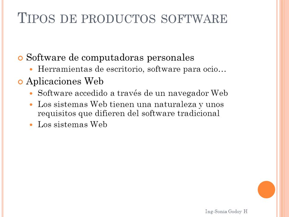 Tipos de productos software
