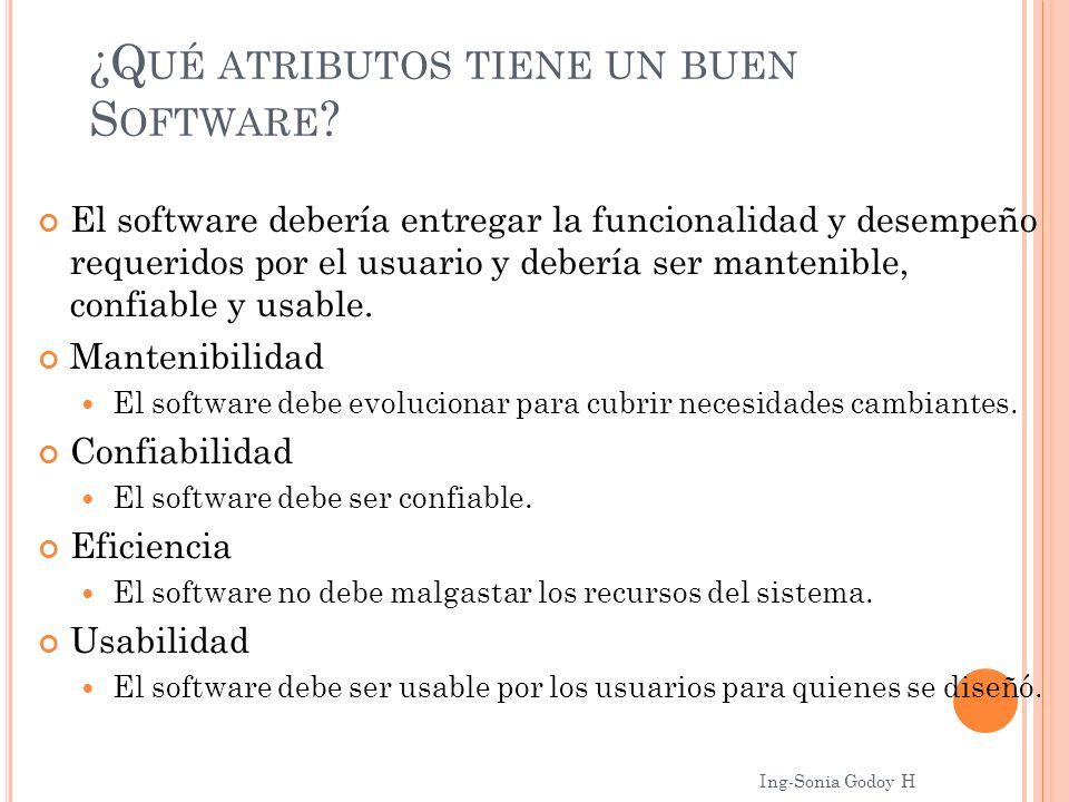 ¿Qué atributos tiene un buen Software