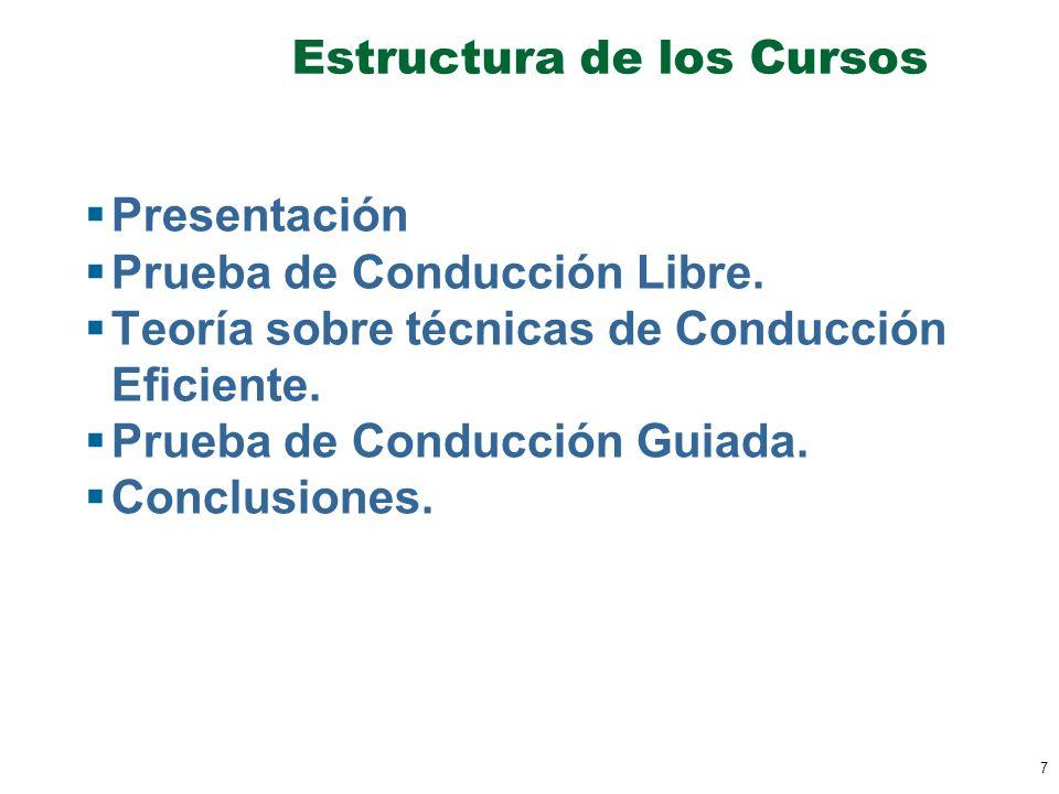 Estructura de los Cursos