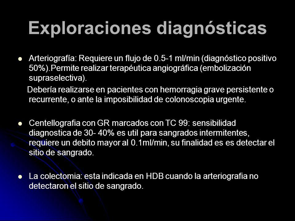 Exploraciones diagnósticas