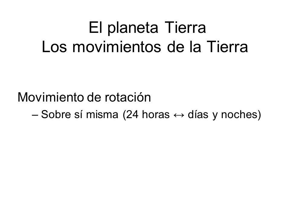 El planeta Tierra Los movimientos de la Tierra