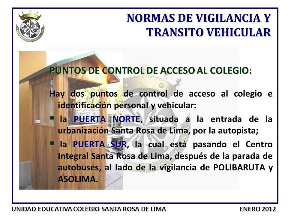 NORMAS DE VIGILANCIA Y TRANSITO VEHICULAR