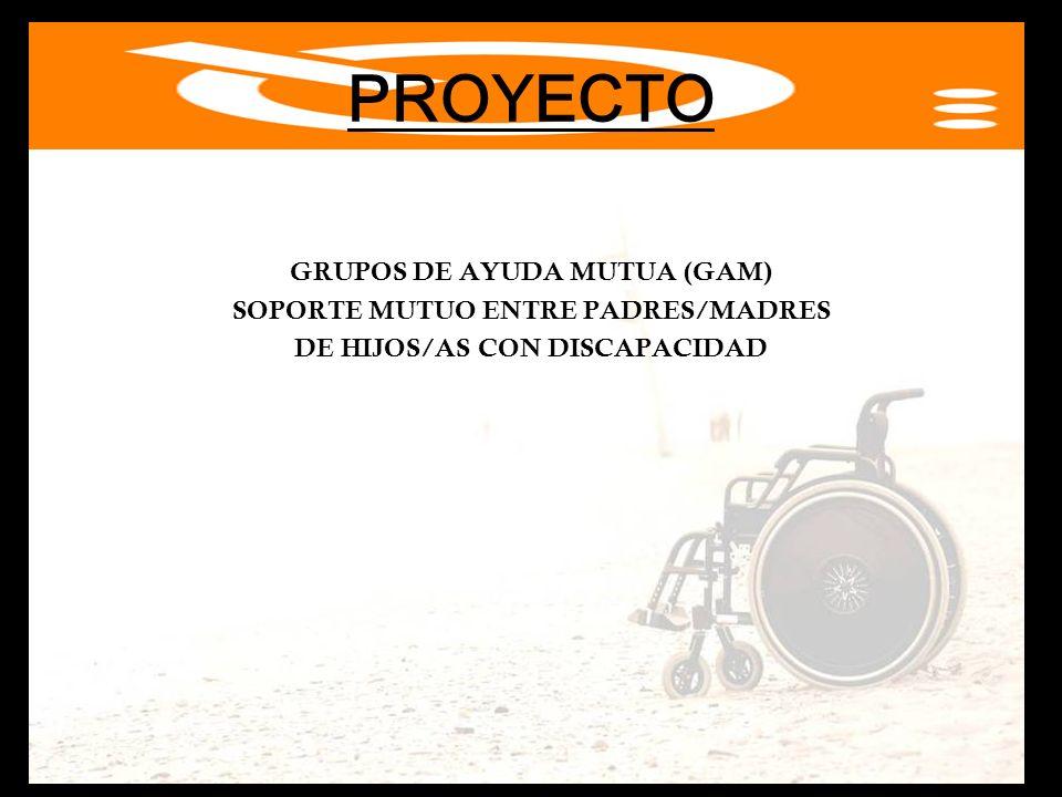 PROYECTO GRUPOS DE AYUDA MUTUA (GAM) SOPORTE MUTUO ENTRE PADRES/MADRES