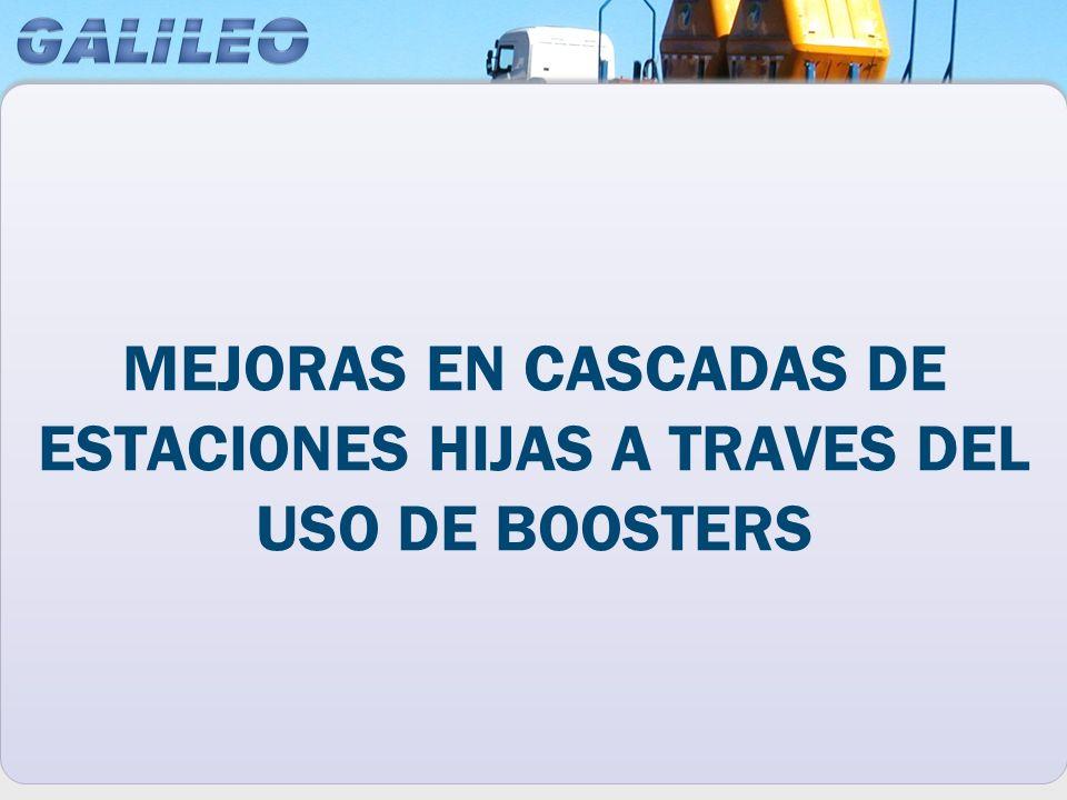 MEJORAS EN CASCADAS DE ESTACIONES HIJAS A TRAVES DEL USO DE BOOSTERS