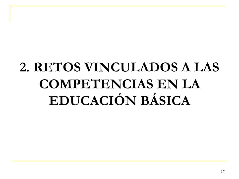 2. RETOS VINCULADOS A LAS COMPETENCIAS EN LA EDUCACIÓN BÁSICA