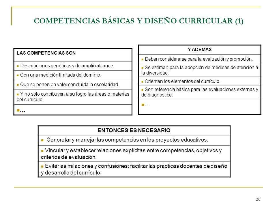 COMPETENCIAS BÁSICAS Y DISEÑO CURRICULAR (1)