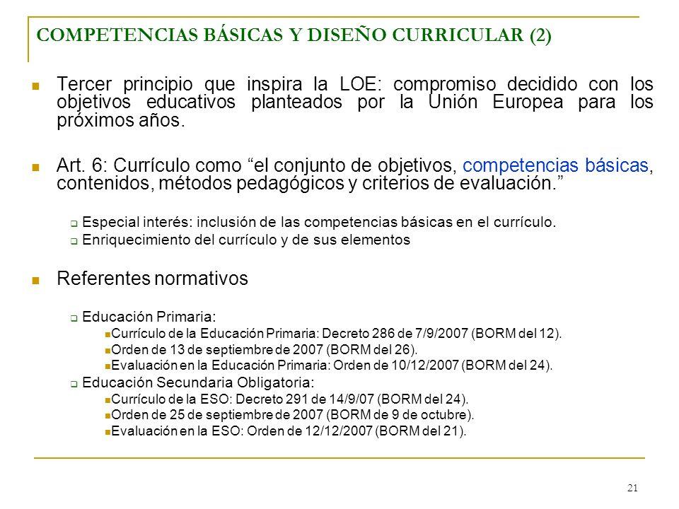 COMPETENCIAS BÁSICAS Y DISEÑO CURRICULAR (2)