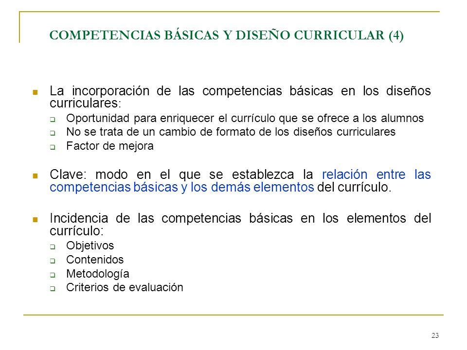 COMPETENCIAS BÁSICAS Y DISEÑO CURRICULAR (4)