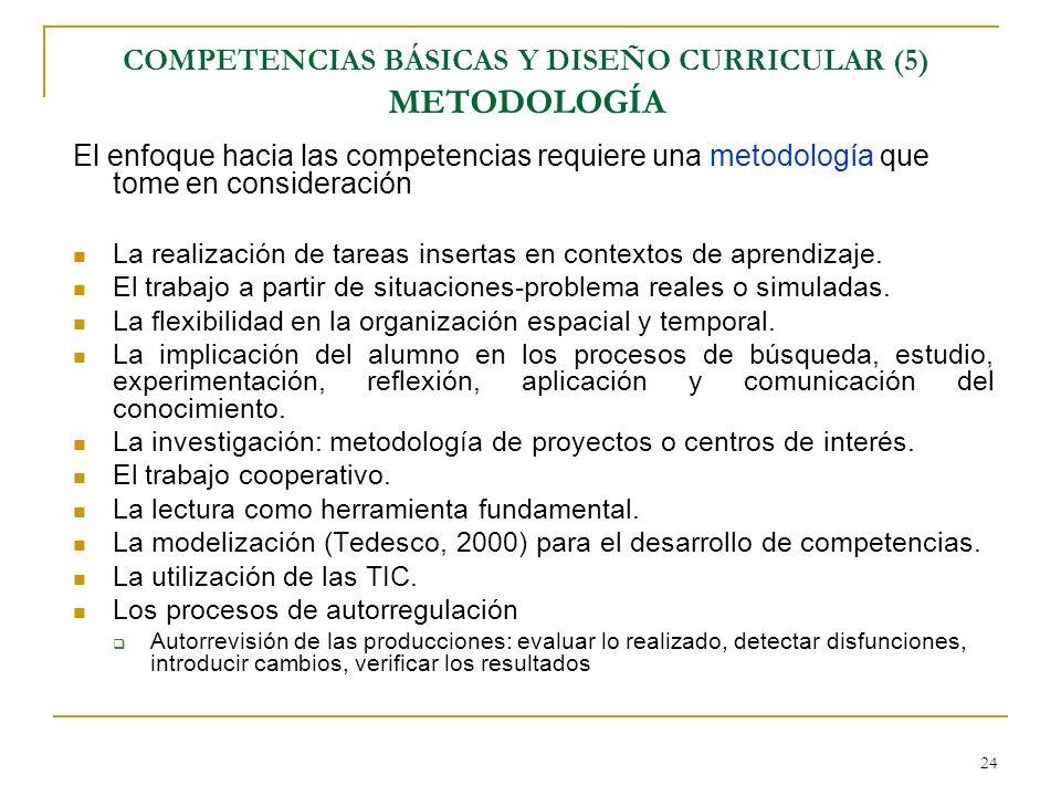 COMPETENCIAS BÁSICAS Y DISEÑO CURRICULAR (5) METODOLOGÍA