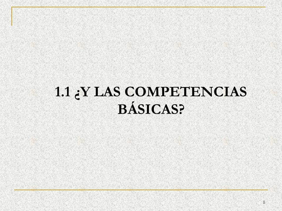 1.1 ¿Y LAS COMPETENCIAS BÁSICAS