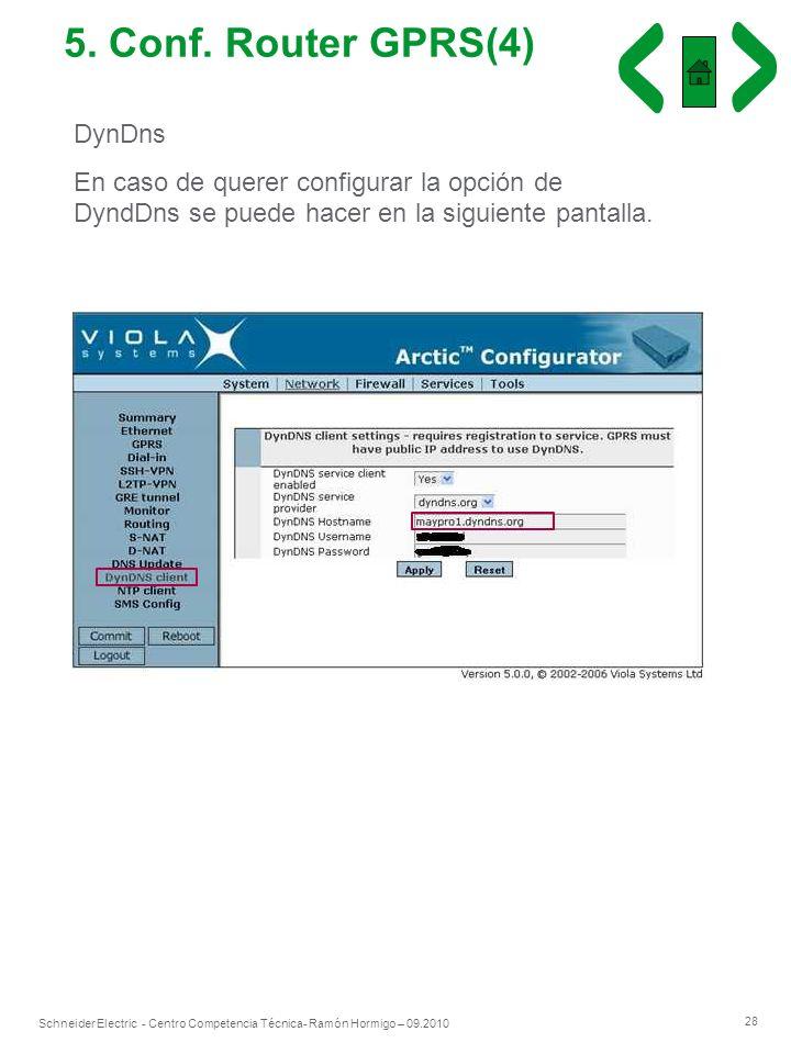 5. Conf. Router GPRS(4) DynDns