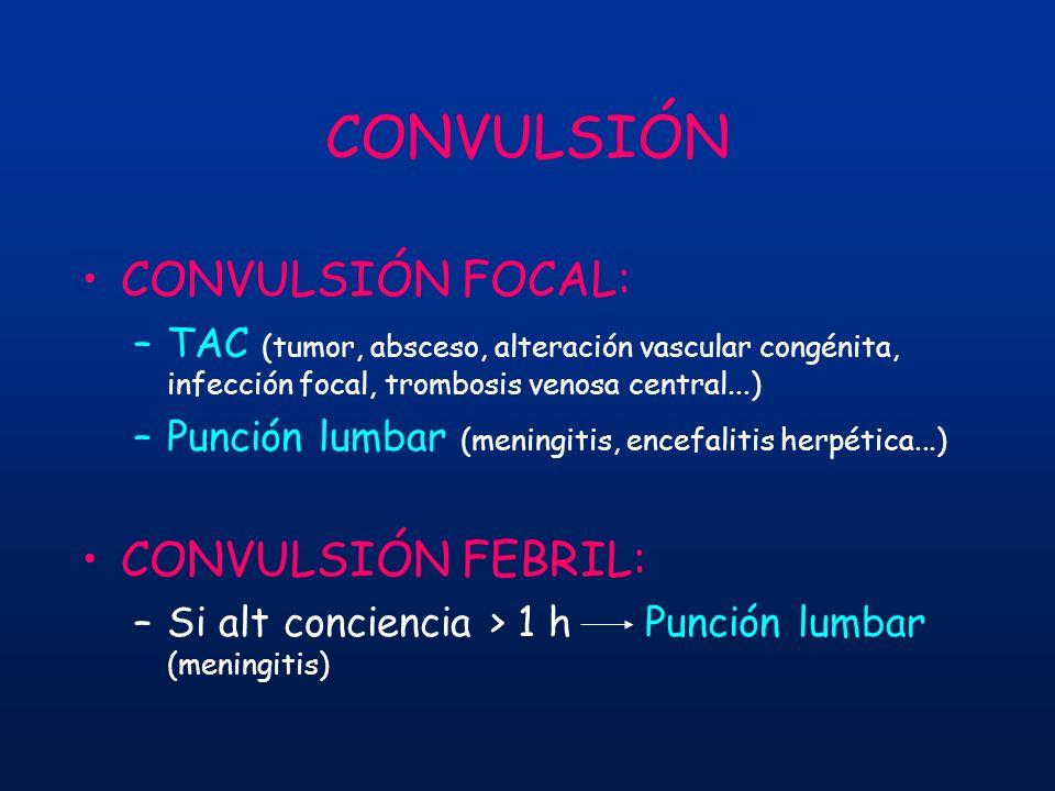 CONVULSIÓN CONVULSIÓN FOCAL: CONVULSIÓN FEBRIL: