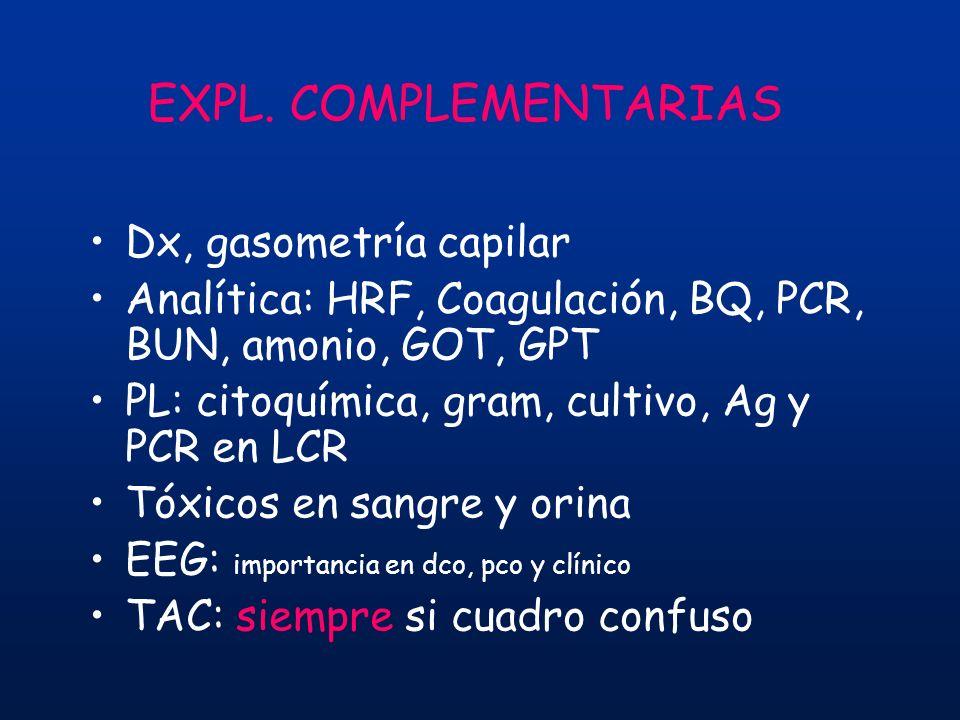EXPL. COMPLEMENTARIAS Dx, gasometría capilar