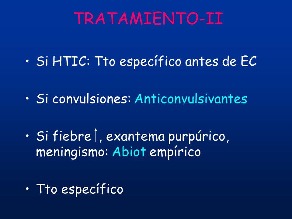 TRATAMIENTO-II Si HTIC: Tto específico antes de EC