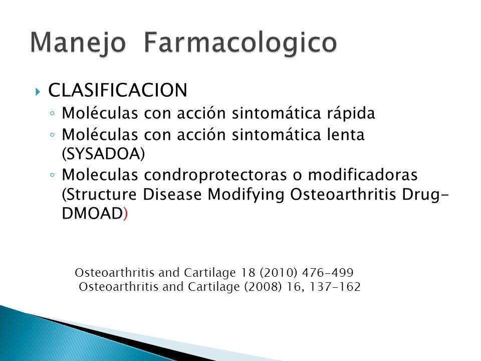 Manejo Farmacologico CLASIFICACION