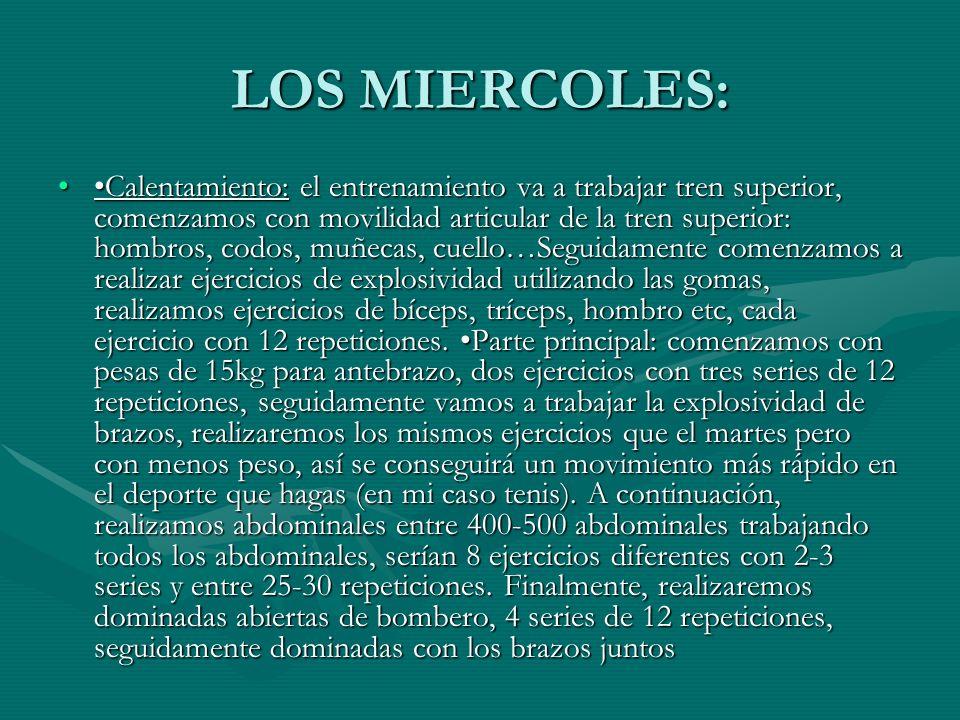 LOS MIERCOLES: